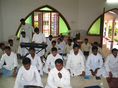 SCJs, who had just completed their retreat, are present for the occasion,