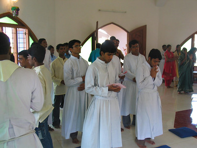 Guests include novices of the Society of Jesus.