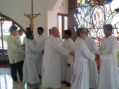 The newly professed are welcomed into the Congregation.