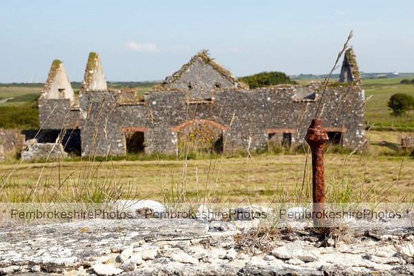 Ruins next to Flimston Chapel. Set in the middle of the firing range at Castlemartin. http://www.coflein.gov.uk/en/site/187/details/FLIMSTON+FARMHOUSE,+CASTLEMARTIN/