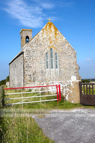 Flimston Chapel. Set in the middle of the firing range at Castlemartin.