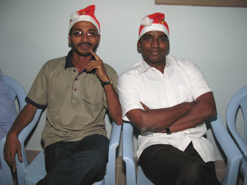 Newly ordained deacons, Dn. Aji (L) and Dn. Sanil.