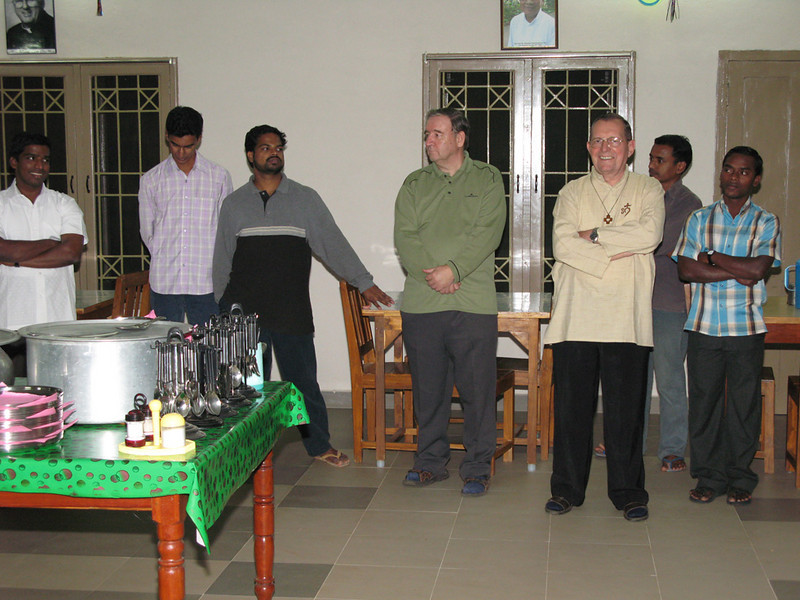 Fr. Tom, Novice Master (middle), and Fr. Martin, India District Superior.