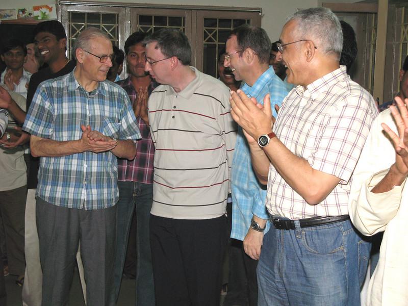 From left: Fr. Guiseppe (Italy), Fr John (Ireland), Fr. Valerio, and Fr. Ornelas.