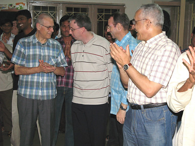 From left: Fr. Guiseppe (Italy), Fr John (Ireland), Fr. Valerio, and Fr. Ornelas.