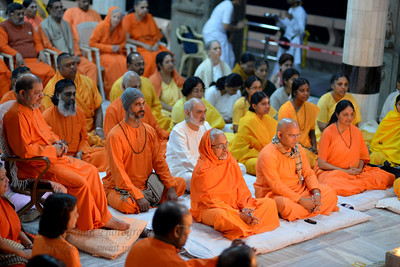 Golden Jubliee Celebrations 1963-2013 of Sandeepany Sadhanalaya, Chinmaya Mission, Powai, Mumbai, India.  Sandeepany celebrated its 50th Year in 2013, on 9th January. Chinmaya Mission Acharyas came together to express their gratitude and make their offerings at the lotus feet of Param Pujya Gurudev Swami Chinmayananda on 9 January, 2013.