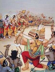 Rama faces Ravana