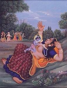 Krishna Kills The Putana Witch