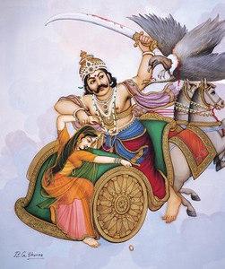 Ravana slays Jatayu