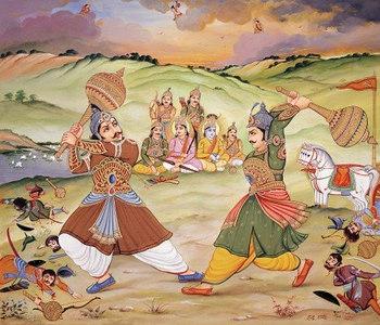 Duel of Bhima and Duryodhana
