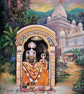 Deities of Lakshmi and Narayana