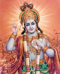 Krishna wielding his Sudarshana Disc