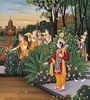 Rama encounters Sita in the garden