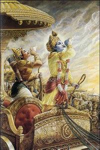 Lord Krishna blew His conchshell, called Pancajanya