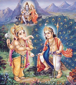 Shiva, Parvati, Ganesh and Skanda