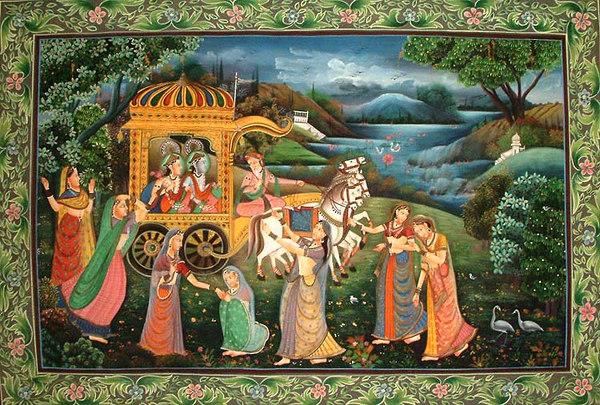 Radha and the Gopis Lament Krishna's Departure to Mathura