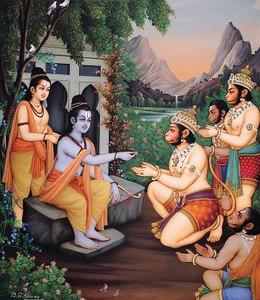 Hanuman sent in search of Sita