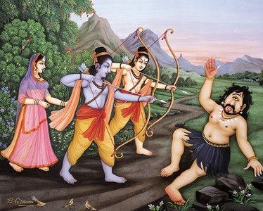 Rama kills Viradha