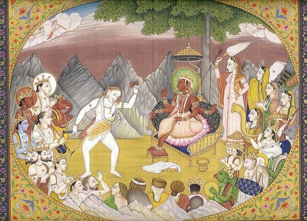 shiva dances for parvati