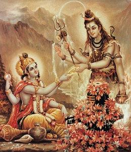 Hari Recieving Darshnan Of Lord Shiva