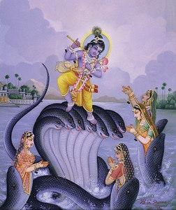 Krishna Chastises Kaliya