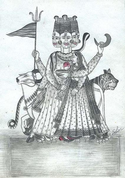 Sadasiva with Shakti