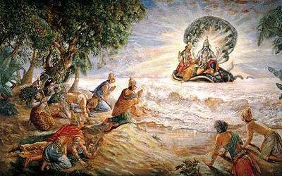 the gods pay homage to shri narayana