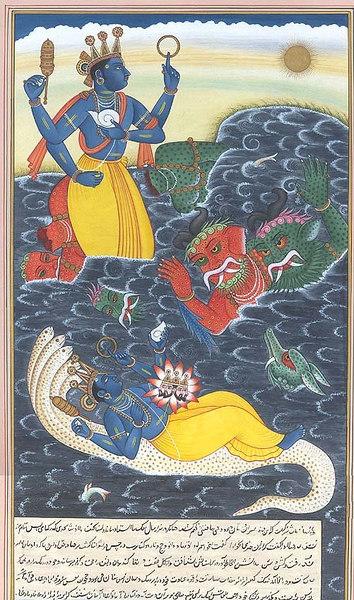 Vishnu Killing the danavas Madhu and Kaitabha