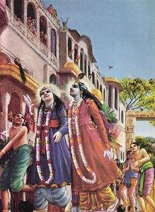 Krishna and His elder brother Balarama
