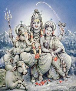 Shiva, Parvati and child Ganesh