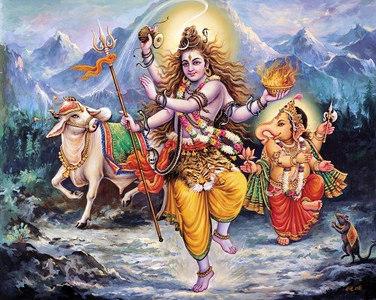 Shiva, Nandi and Ganesha