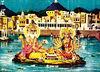 bhrama dev and gyatri devi preform a yagya