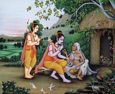 Meeting with the saintly woman Sabari