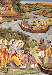 Lord Rama And The Boat Rower