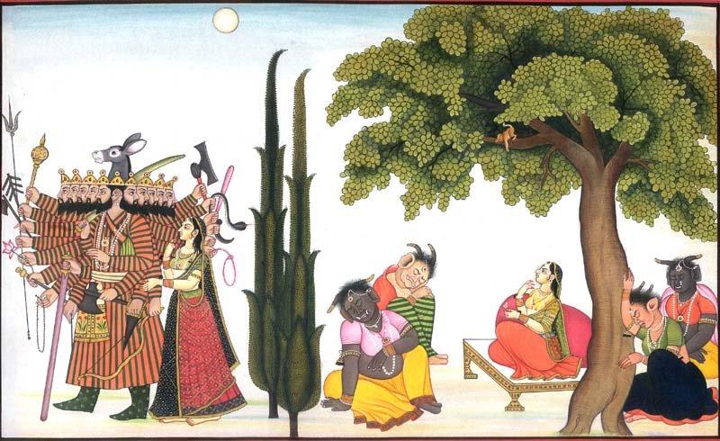 Ravana Fails to Win Over Sita at Ashoka Vatika, Lanka City