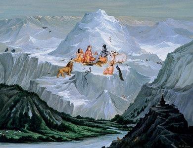 Lord Shiva On Kailash