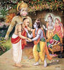 Rama gracing the poet saint Tulsidas