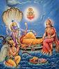 Maha Vishnu wih Lakshmi and Gauruda