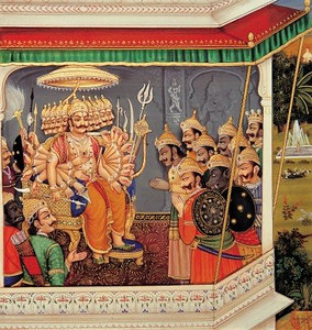 Ravana in his Palace