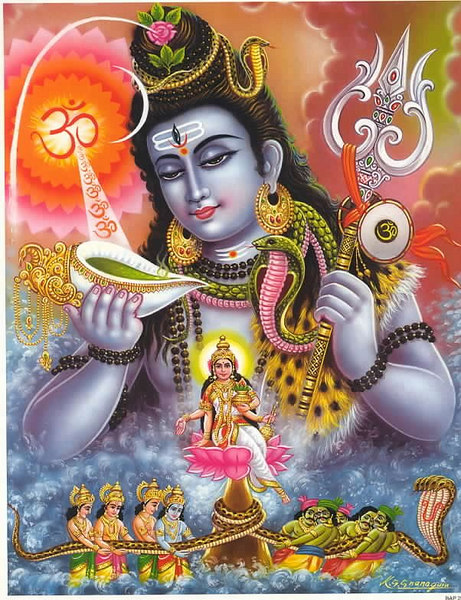 Shiva Saving World drinking poisen