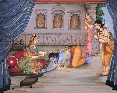 Rama says goodbye to his mother Kaushalya