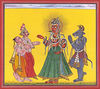 Mahadevi Adored by Vamana, Varaha and Indra