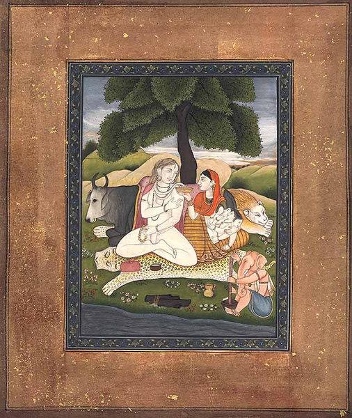 shiva takes bhang off parvati