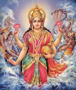 Goddess Lakshmi Appearing After Sagar Manthan