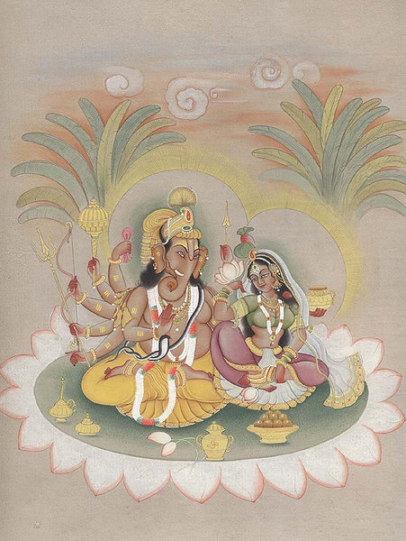 Ganesha with His Consort