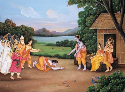 Bharat is visiting Rama in the forest