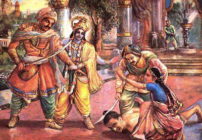 The son of drona is punished