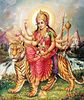 Goddess Durga on tiger Vahana