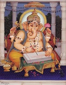 Ganesha Writing