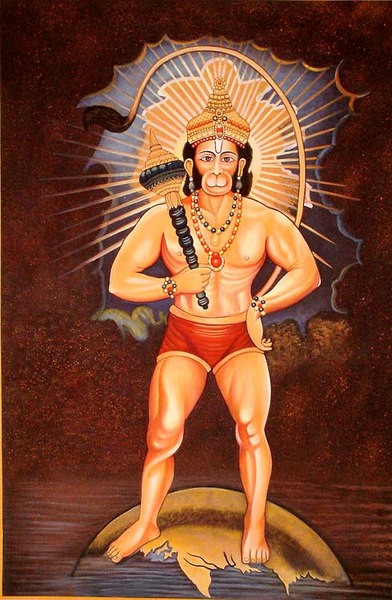 Hanuman Stands Tall Over the World